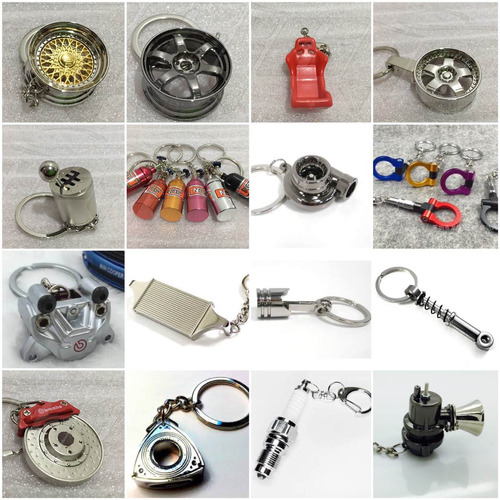 llaveros turbo,piston,caliper,bujia,intercooler valvula gcp