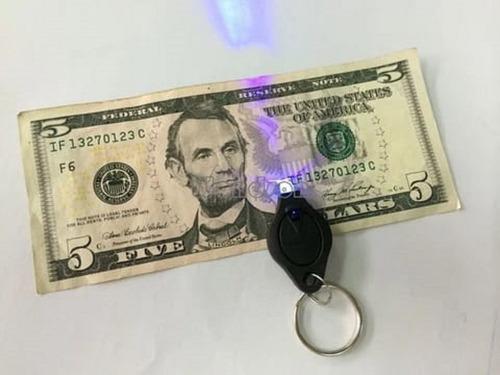 llaveros uv para detectar dinero falso (12 x 3,50 c/u)