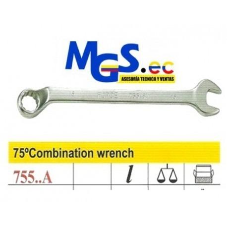 llaves de combinacion con corona 75 grados encorvados 21mm