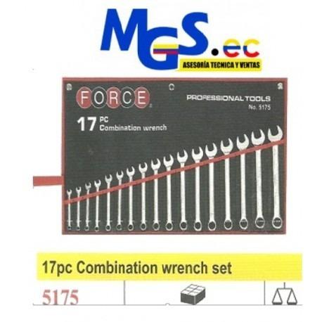 llaves de combinacion con corona 75 grados encorvados force.