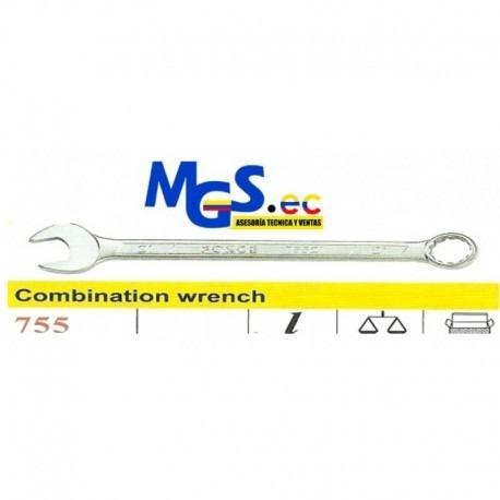llaves de combinacion de acero cromo vanadio de 7/16  force.