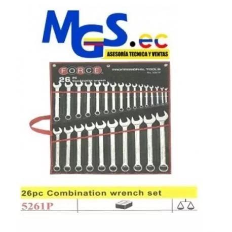 llaves de combinacion de acero cromo vanadio,26 pzas 6 - 3