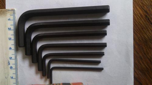 llaves exagonales gedor 1/4, 7/32, 3/16..y menores 7 piezas.