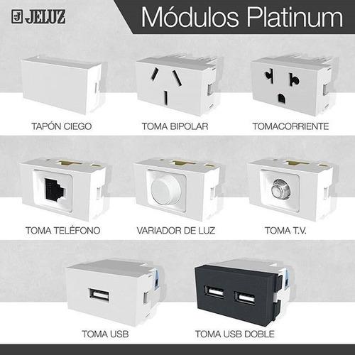 llaves jeluz tapas + modulos + bastidor