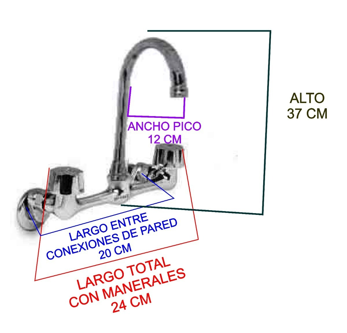 Llaves mezcladoras para fregadero conexiones a la pared for Llaves de agua para tarjas
