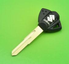 llaves virgenes para motos suzuki color negra-cromo
