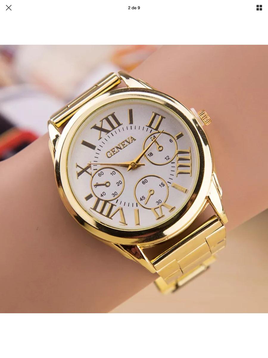 e92f32365b52 llegado reloj pulsera de lujo dama geneva oro acero inox. Cargando zoom.
