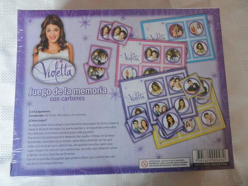 llegaron los juegos de mesa violetta disney!! memoria