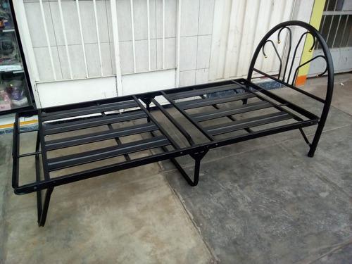 llego cama plegable 1 plaza bayeta 0.90 x1.90 con cabecera