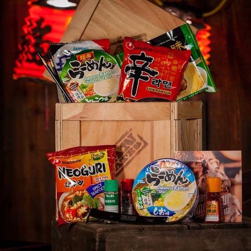 llego ramen box! caja grand ramen coreanos x 6 unid! unicos!