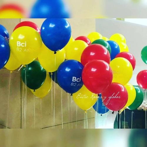 llenado de globos con helio