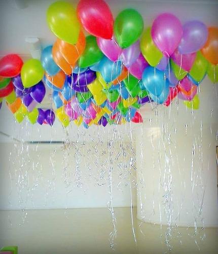 llenado servicio de globos con helio arreglo con globos