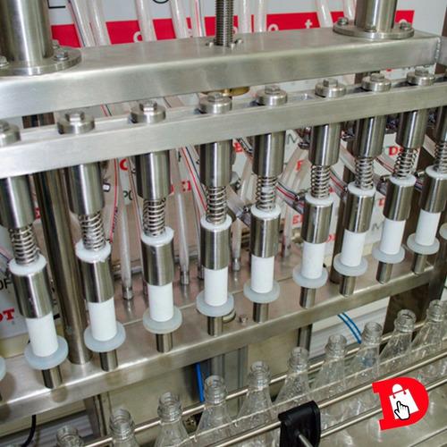llenadora automática de 12 boquillas en acero inoxidable