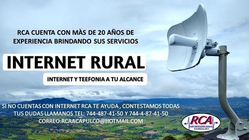 llevamos internet a cualquier zona rural