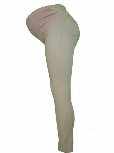 llévate 2 pantalones de vestir strech de ropa  maternidad
