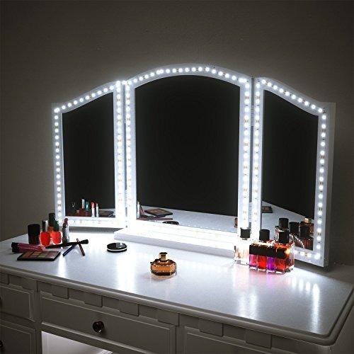 llevó las luces del espejo de tocador kit para el maquilla