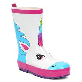 comprar auténtico busca lo último venta online Lluvia Botas Princesas Unicornio Niña Talla 1 A 13 Us