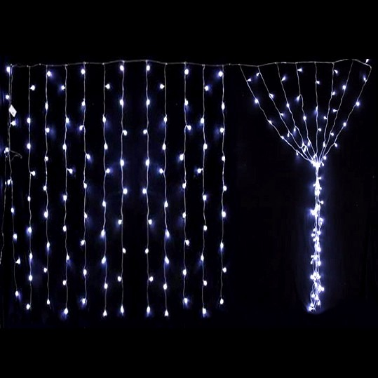 Lluvia de 200 luces led cortina navidad 2x2m multicolor for Luces led para decorar