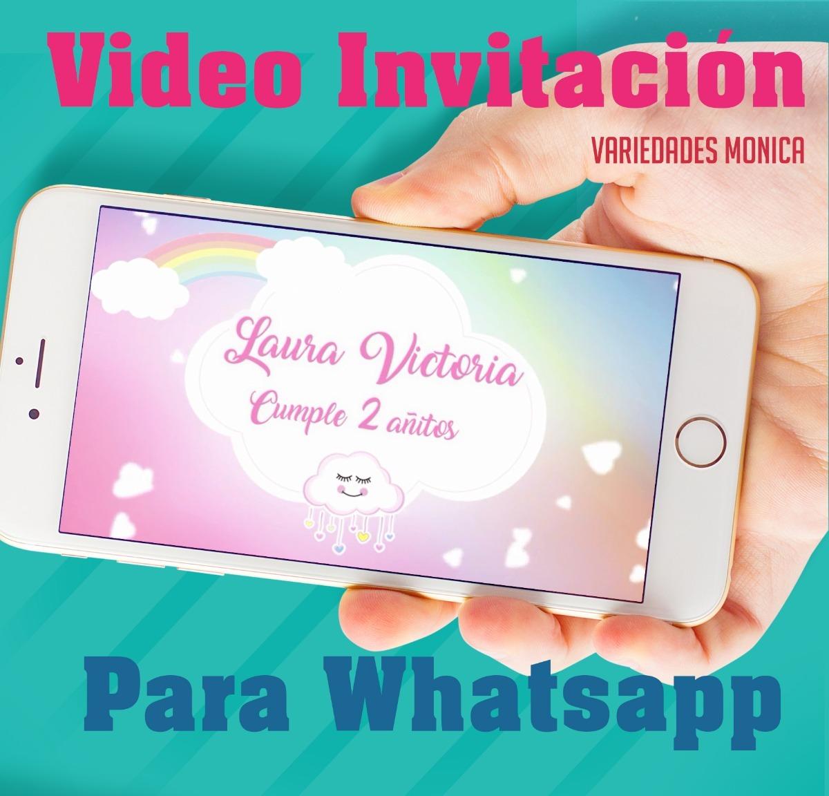 Lluvia De Amor Nube Tarjeta Invitación Digital Vídeo Animado