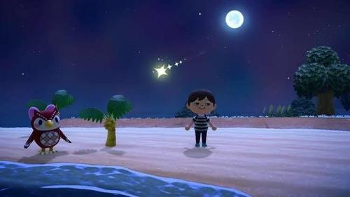 lluvia de estrellas, animal crossing new horizons.