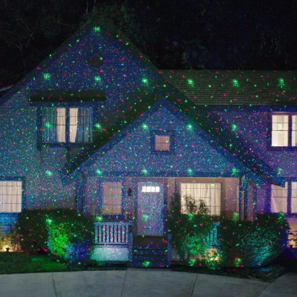 Lluvia Estrellas Proyector De Luces Laser Navidad 999