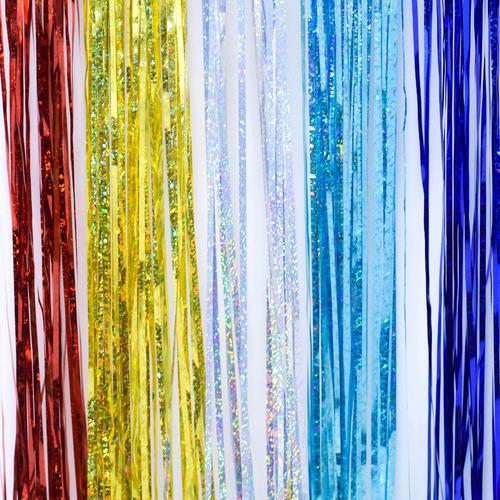 lluvia navidad láser 10 cm x 1 mts #204 x 5 unidades