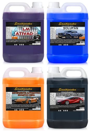 lm 5l + solupan 5l + shampoo 5l + pretinho 5l + pretita 2l