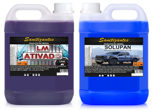 lm ativado limpa baú 1x40 5 litros + solupan 1x40 5 litros