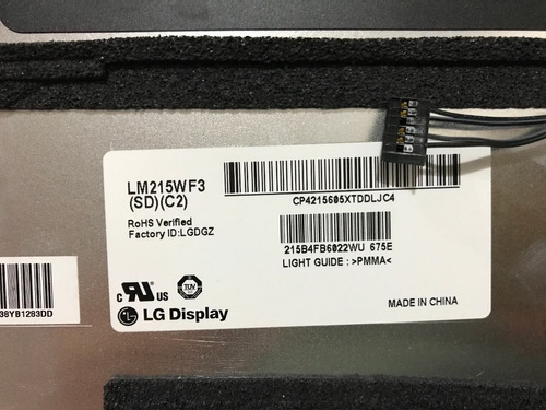(lm215wf3) lg lcd display panel - apple imac 21.5  a1311 mid