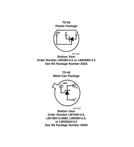 lm336z-5 regulador ajustable de precisión para voltajes