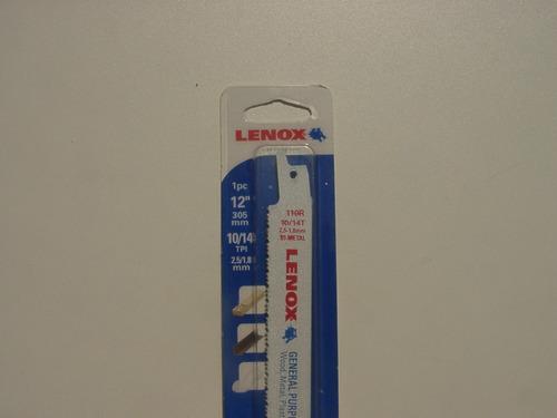 lâmina de serra sabre lenox bi metal