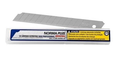 lâmina norma plus estreita 9mm profissional industrial c/50