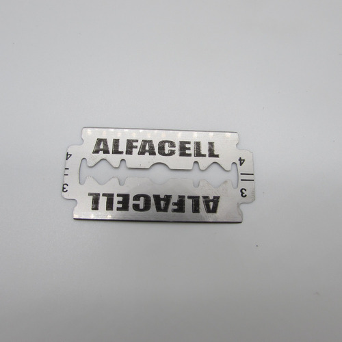 lâmina para barbear alfacell em aço inox - 50 unidades