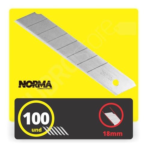 lâmina profissional norma larga one way 18mm (100 peças)