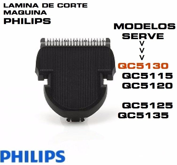 6e8b604ab Lâmina Reposição Maquina Corte Cabelo Philips Qc5115 Qc5130 - R$ 119 ...