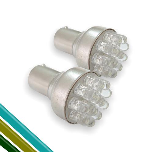 lâmpada 12 led 12v branco (o par)