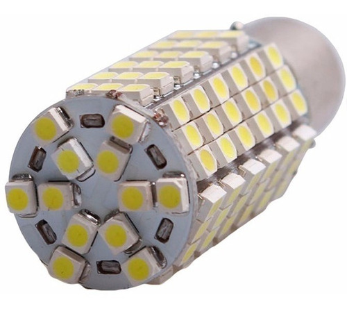 lâmpada 120 leds 1156 ba15s p21w 1 polo luz ré super branca