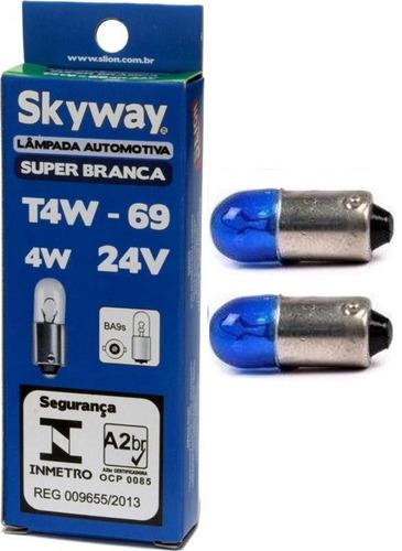 lâmpada 69 4w 24v super branca skyway - par