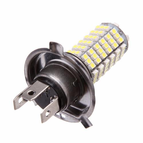 lâmpada automotiva h4 120 leds farol 6000k carro
