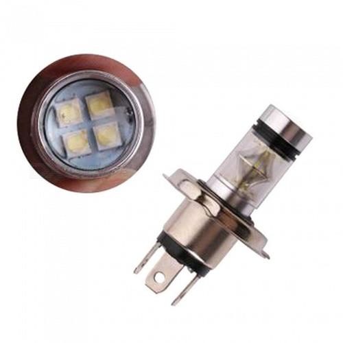 lâmpada automotiva h4 20 leds farol 6000k carro 12v