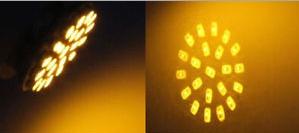 lâmpada ba15s p21w de 22 leds vermelha ou amarela
