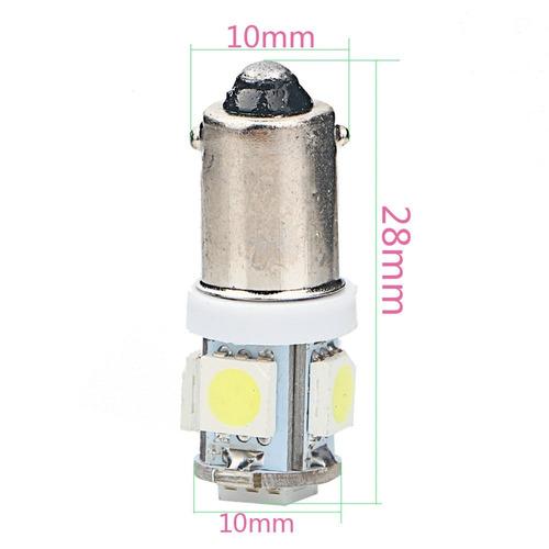 lâmpada base 69 ba9s 5 leds smd 5050 xenon farol frete 8,00