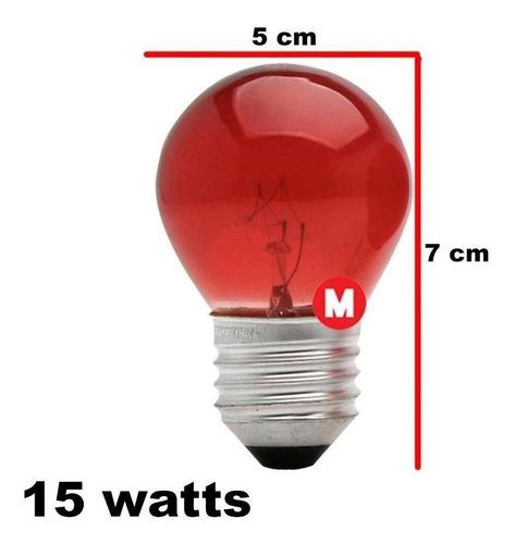 lâmpada bolinha vermelha 15w 220v e27 8493 brasfort