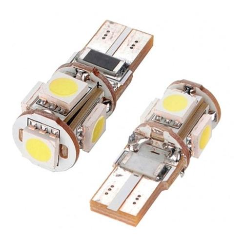 lâmpada canbus canceller 5 led 5050 t10 pingo torpedo xenon