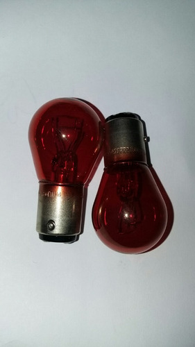 lâmpada de 2 polos vermelha original peugeot e citroen 21/5w