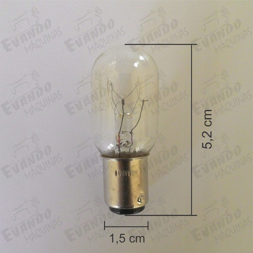 lâmpada de encaixe p/ máq de costura singer 110v kit c/ 2 un