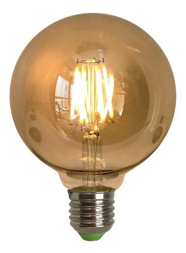 lâmpada de filamento led retro vintage g95 - 4w - bivolt