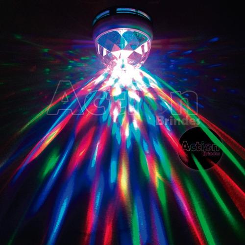lâmpada de led colorido giratória bola maluca
