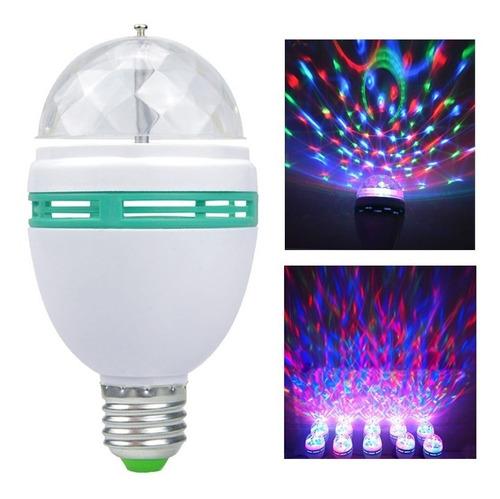 lâmpada de tomada led colorido giratória bola maluca festa