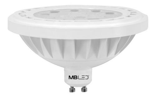 lâmpada dicróica ar111 led gu10 14w biv 3000k luz amarela